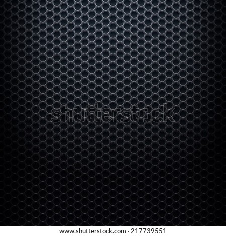 Metallic background with perforated plate - stock vector