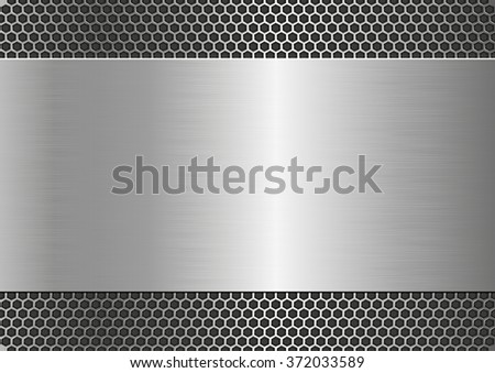 metallic background with steel texture - stock vector