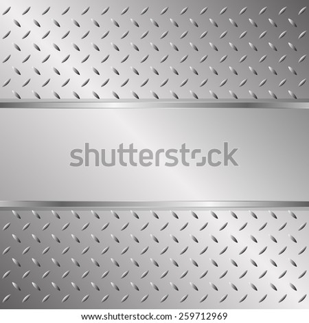 metallic background with texture and copy space - stock vector