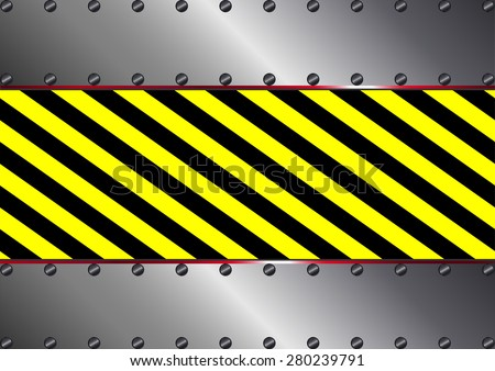 metallic background with yellow and black stripes