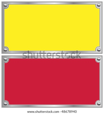 Metallic border - stock vector