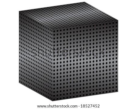 metallic box - stock vector