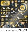 Metallic infographic elements, vector EPS-10 file - stock photo