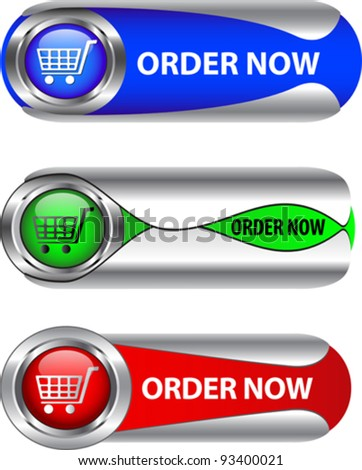 Metallic labels for web applications. Vector - stock vector