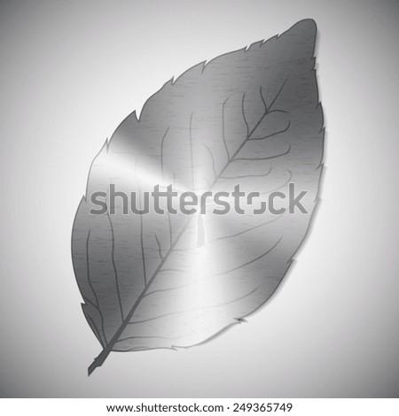 Metallic leaf - stock vector