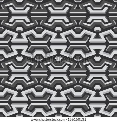 metallic seamless pattern - stock vector