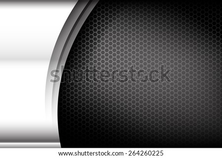 Metallic steel and honeycomb element background texture vector illustration - stock vector