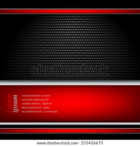 metallic textured vector template with copy space. Eps10 - stock vector