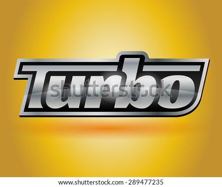 Metallic Turbo Badge 2 - stock vector