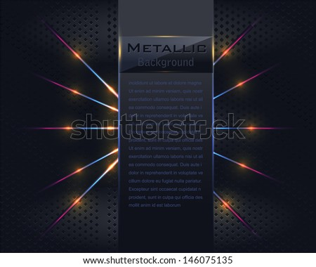 Metallic Vector Background - stock vector