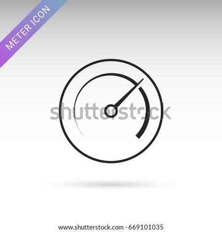 Meter Icon Thin Line Style Symbol Stock-Vektorgrafik 669101035 ...
