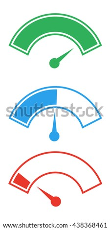 meter needle symbols - stock vector