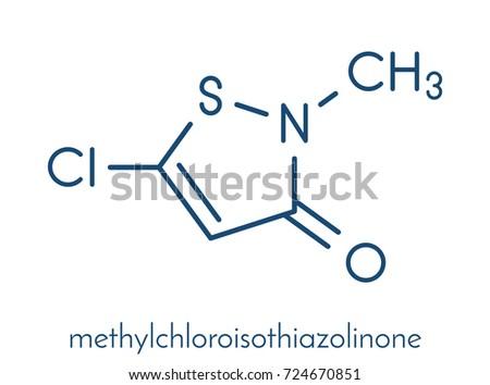 Methylchloroisothiazolinone Preservative Molecule Chemical Structure