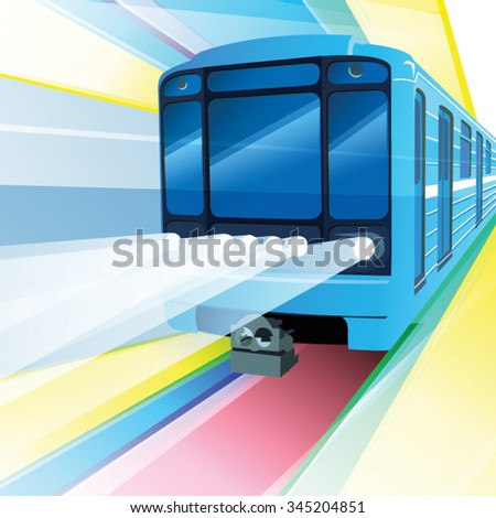 Metro train vector illustration - stock vector