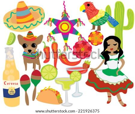 Mexican Fiesta Cinco De Mayo Party - stock vector