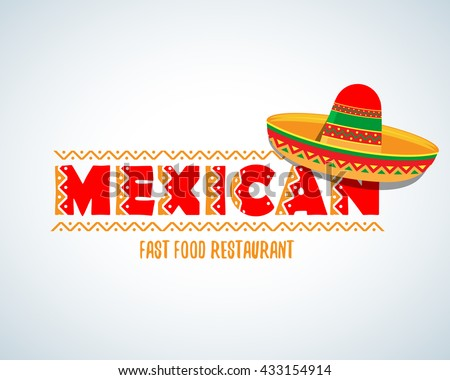 Mexican food logo mexican fast food stock vector 433154914 for Mexican logos pictures