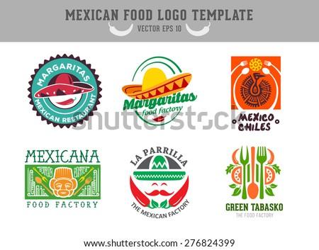 Mexican food logo. Vector template - stock vector