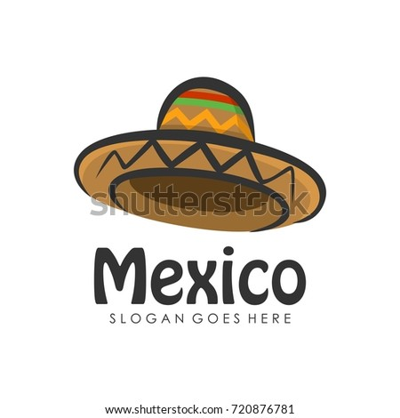 Mexican Hat Icon Logo Design Template Stock Vector (Royalty Free ... ef29085032b