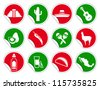 Mexican icon set on stickers - stock vector