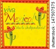 Mexican Independence Day card in vector format. - stock vector