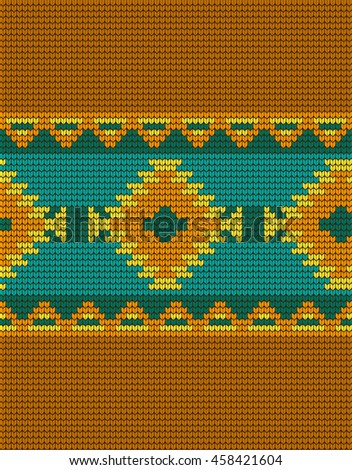 Mexican Indian Knitted Pattern Stock Vector 458421604 Shutterstock