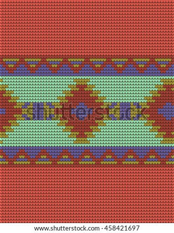 Mexican Indian Knitted Pattern Stock Vector 458421697 Shutterstock