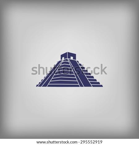 Mexican Mayan Pyramid  - stock vector
