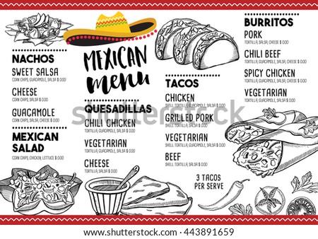 Blanco Mexican Restaurant Menu