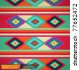 Mexican rug background. Vector image - stock vector
