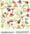 Mexican seamless pattern - stock vector