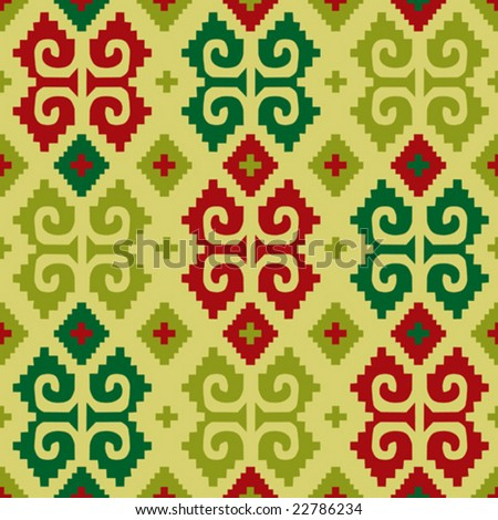 Mexican seamless pattern 1 - from mexican collection - stock vector