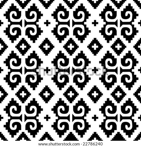 Mexican seamless pattern 3 - from mexican collection - stock vector