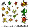 Mexican Set - stock vector