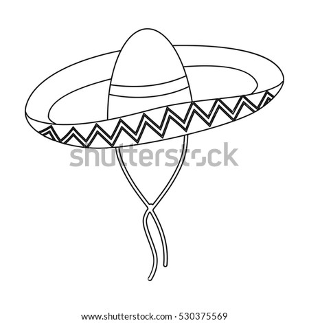 Sombrero outline bing images for Mexican sombrero coloring page