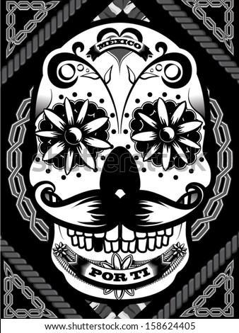 Mexican Sugar Skull - stock vector
