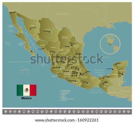 Mexico - stock vector
