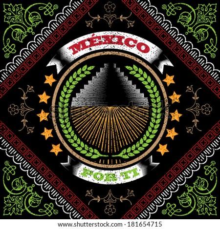 Mexico Bandana Design - stock vector