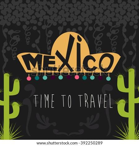 Mexico card - stock vector