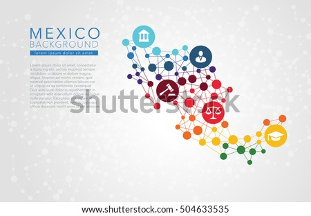 Mexico dotted vector background