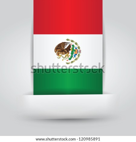 Mexico Flag In Paper Slit. File is a EPS 10 and with transparencies - stock vector