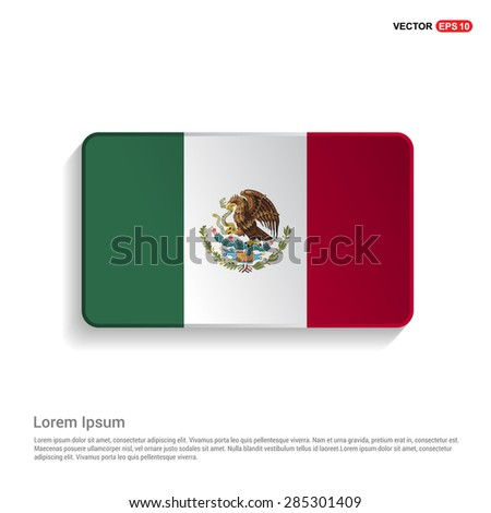 Mexico flag isolated on white background - vector illustration