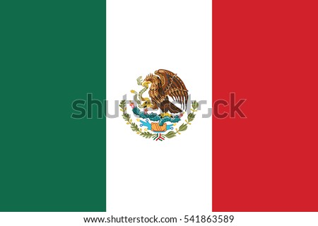 Mexico Flag. Vector Format