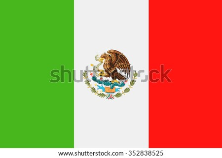 Mexico Flag - Vector Illustration Vector Illustration of Mexico Flag Icon