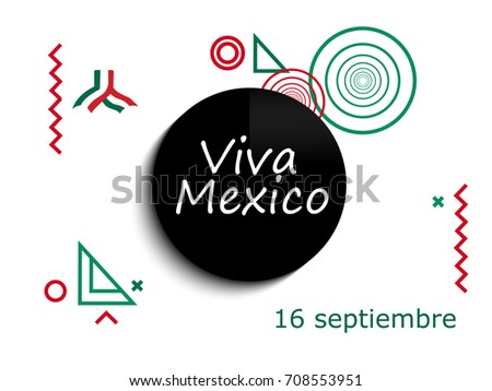 Mexico independence day greetings card viva stock vector 708553951 mexico independence day greetings card viva mexico traditional mexican phrase holiday modern design m4hsunfo