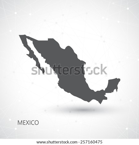 Mexico Map And Communication Background Vector illustration. - stock vector
