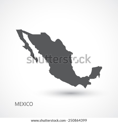 Mexico map vector illustration - stock vector