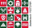 Mexico pictograms - stock photo