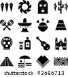 Mexico pictograms - stock vector