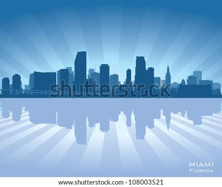 Miami, Florida skyline - stock vector