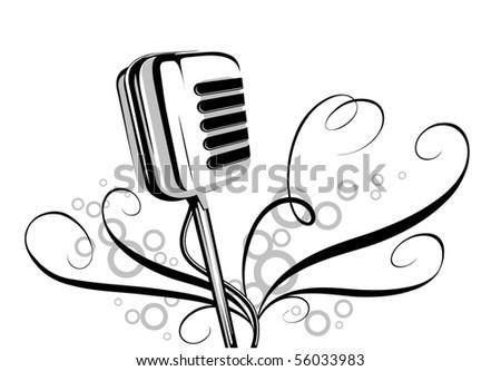 mic - stock vector